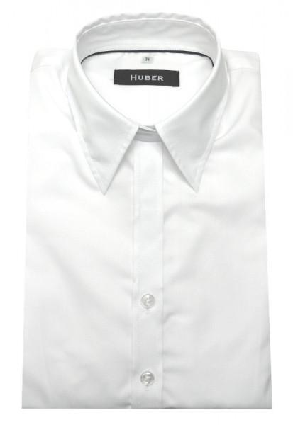 HUBER Damen Bluse weiß bügelleicht HU-3001 Slim Line