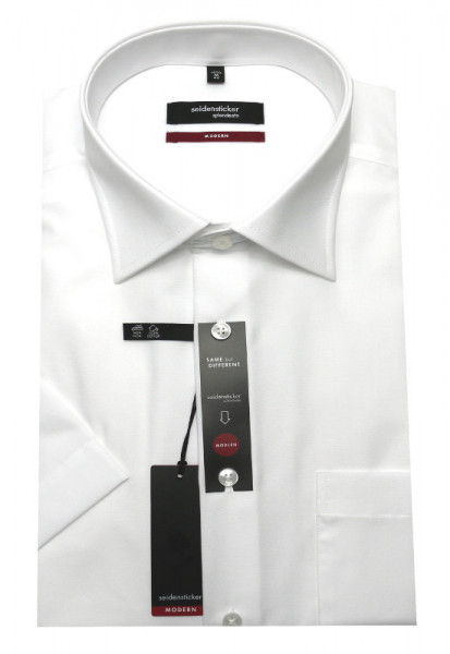 Classic Hemd weiß Kurzarm bügelfrei von Seidensticker Modern Fit
