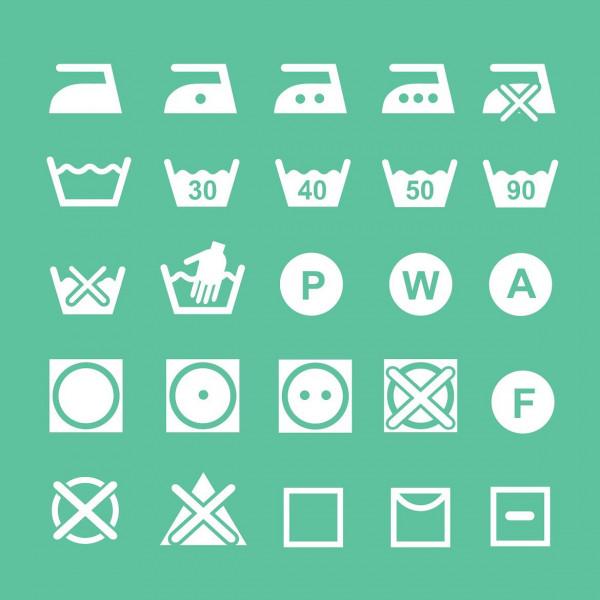 Symbole-auf-W-ascheetiketten