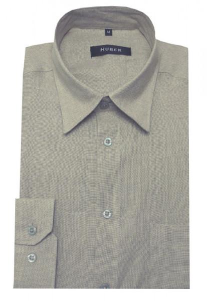 HUBER Leinen Hemd beige natur HU-0056 Regular