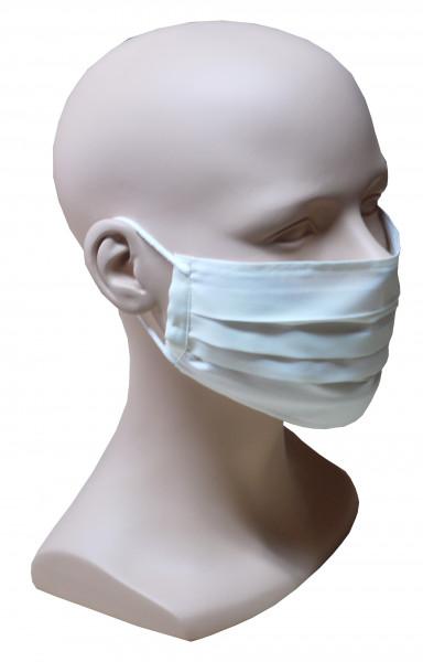 Gesicht Mund Nase Maske creme Stoff 1-lagig Sommer waschbar HU-7104