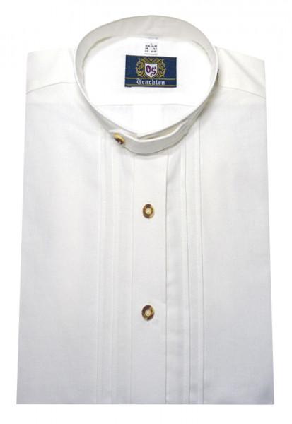 Orbis Stehkragen Trachten Hemd weiß mit Biesen OS-0001 Comfort Fit