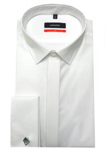 Umschlag-Manschetten Hemd weiß bügelfrei Seidensticker Slim Fit