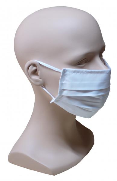 1 Stück Gesicht Mund Nase Behelfs Maske weiß feine Baumwolle Sommer waschbar HU-8000