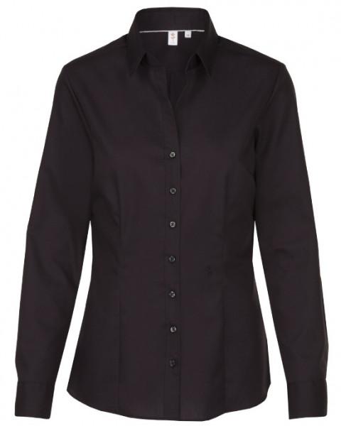 Seidensticker Bluse schwarz Schwarze Rose bügelfrei SB-0002 Slim Line