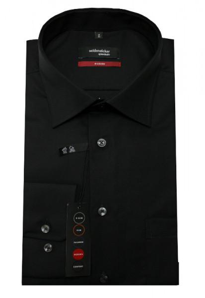 Seidensticker Hemd schwarz bügelfrei SP-0041 Modern Fit