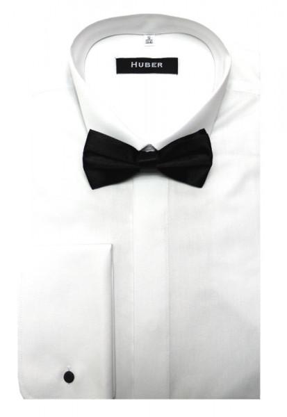 HUBER Smokinghemd weiß inkl. Fliege schwarz HU-1021 Regular Fit