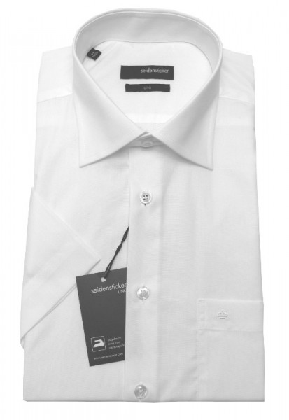 Seidensticker Hemd weiß Uno Regular Kurzarm bügelleicht