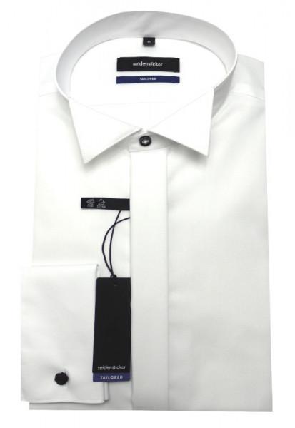 Seidensticker Smoking Hemd weiß Umschlag-Manschetten SR-0010 Shaped