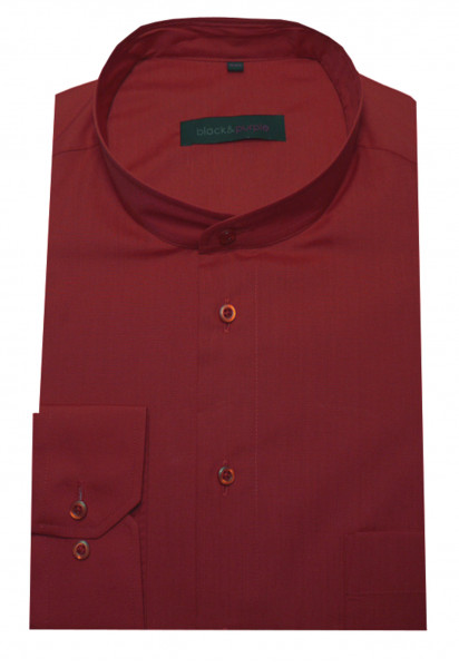 Stehkragen Hemd rot bügelleicht BP-0020 Regular Fit