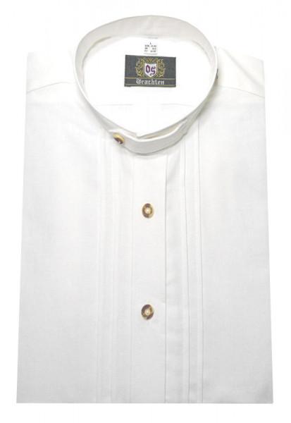 Orbis Stehkragen Trachtenhemd weiß mit Biesen OS-0001 Regular Fit