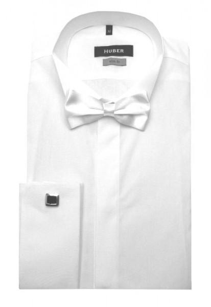 HUBER Smoking Hemd weiß inkl. Fliege weiß HU-3351 Slim Fit