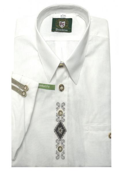 Orbis Trachten Hemd weiß mit Stickerei OS-0215 Comfort Fit
