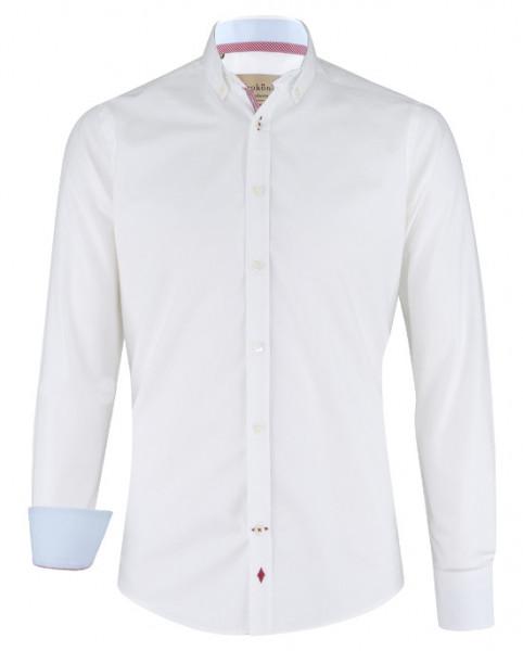 Karokönig Hemd aus Bio-Baumwolle weiß KK-0001 Regular tailliert