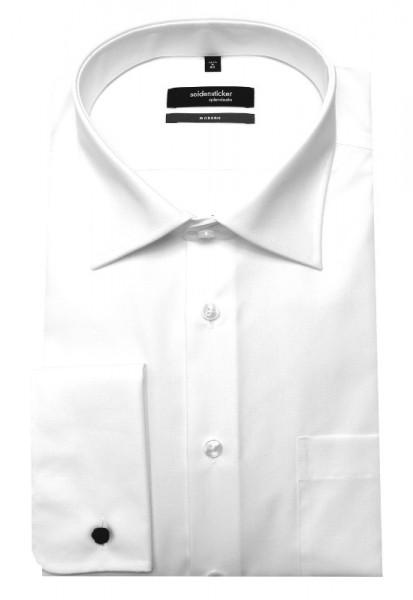 Seidensticker Umschlag-Manschetten Hemd weiß SP-0080 Modern