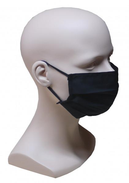 Gesicht Mund Nase Behelfs Maske schwarz feine Baumwolle Sommer waschbar HU-8001
