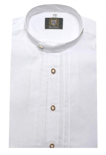 Orbis Stehkragen Trachtenhemd weiß OS-0005 Comfort Fit