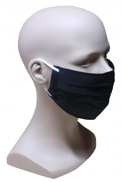Gesicht Mund Nase Maske schwarz Stoff Sommer 1-lagig waschbar HU-7101