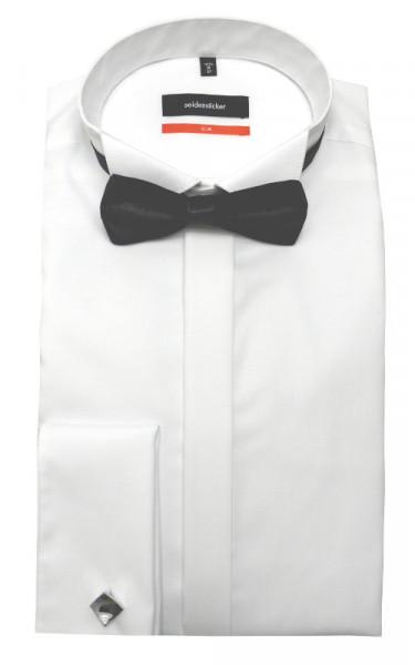 Seidensticker Smoking Hemd weiß bügelfrei +Fliege+Mansch.knopf SU-2010 Slim Fit