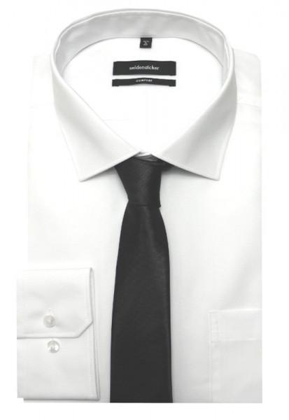 Seidensticker Hemd weiß bügelfrei +Krawatte SC-2001 Comfort Fit