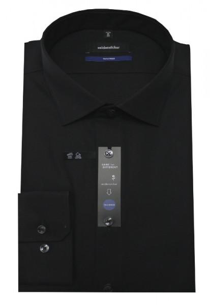 Tailored Fit Hemd von Seidensticker Schwarze Rose schwarz bügelfrei