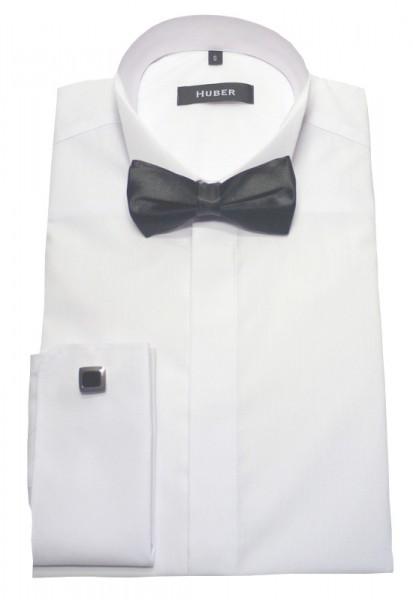 Smoking Hemd weiß +Fliege bügelleicht von HUBER