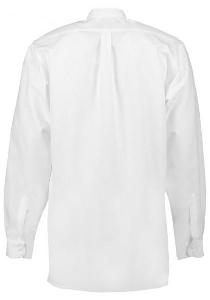Orbis Stehkragen Trachten Zunft Herren Hemd weiß mit Biesen OS-0005 Comfort Fit