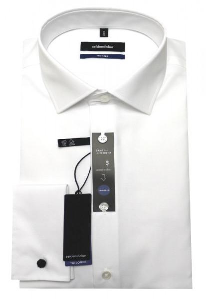 Seidensticker Umschlag-Manschetten Hemd weiß SR-0020 Shaped