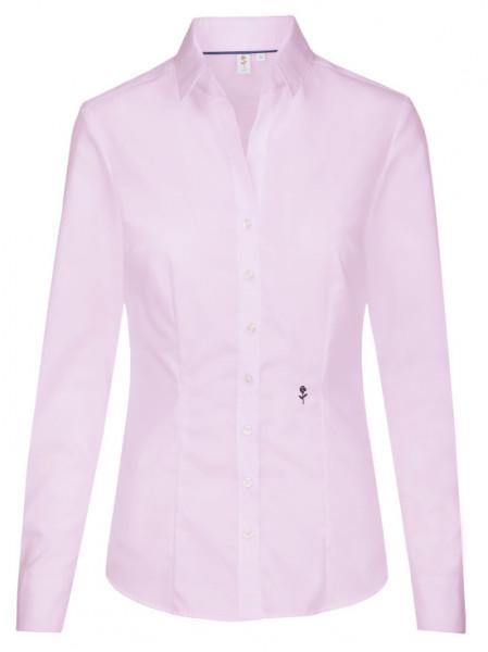 Damen Bluse rosa bügelfrei Seidensticker Schwarze Rose Slim