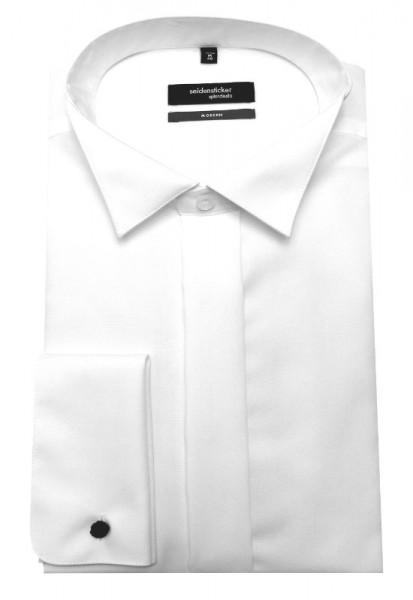 Seidensticker Smoking Hemd weiß bügelfrei Umschlag-Manschette SP-0060 Modern Fit
