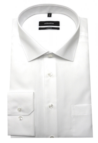 Seidensticker Hemd weiß Schwarze Rose SC-0001 Comfort
