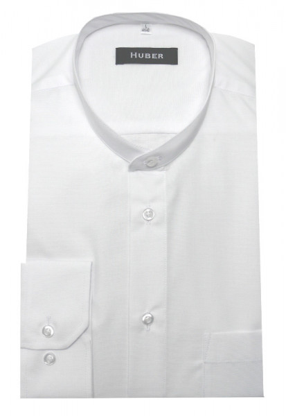 HUBER Hemd kurzer Stehkragen weiß HU-0601 Regular