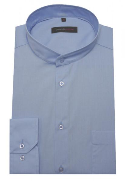 Stehkragen Hemd hellblau bügelleicht BP-0002 Regular Fit