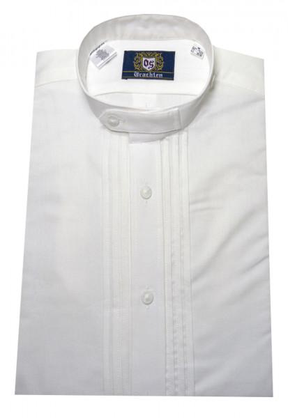 Trachten-Schlupfhemd von Orbis mit Stehkragen weiss reine Baumwolle
