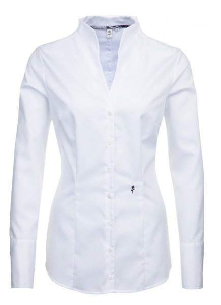 Seidensticker Stehkragen Bluse weiß bügelfrei SB-0035 Slim Line
