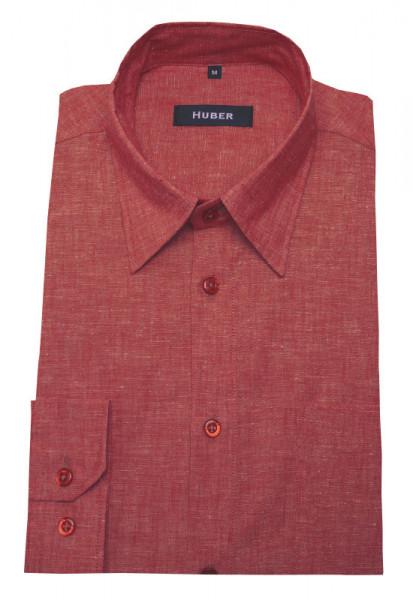 Leinen Hemd rot meliert Leinen-Mischung von HUBER
