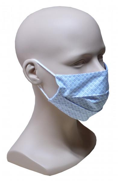 5 Stück im SET Premium Mund Nase Maske feiner Stoff 2-lagig HU-7005