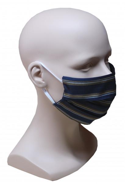 1 Stück Gesicht Mund Nase Maske feiner Stoff 2-lagig etwas längere Ohrschlaufen HU-7023