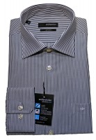Classic Hemd grau weiß gestreift bügelfrei von Seidensticker