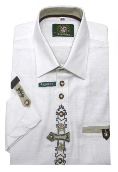 Orbis Trachten Hemd weiß mit Stickerei OS-0250 Regular Fit
