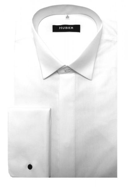 HUBER Smoking Hemd weiß Frackhemd Regular Fit HU-0021