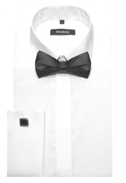 HUBER Hemd mit Umschlagmanschette weiß inkl. Fliege HU-1011 Regular